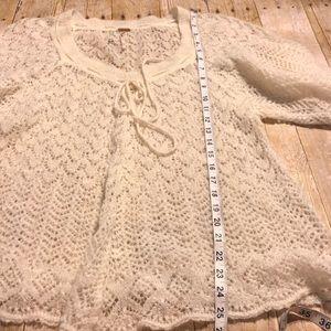 Free People Tops - Free People Wool Blend Crochet Top